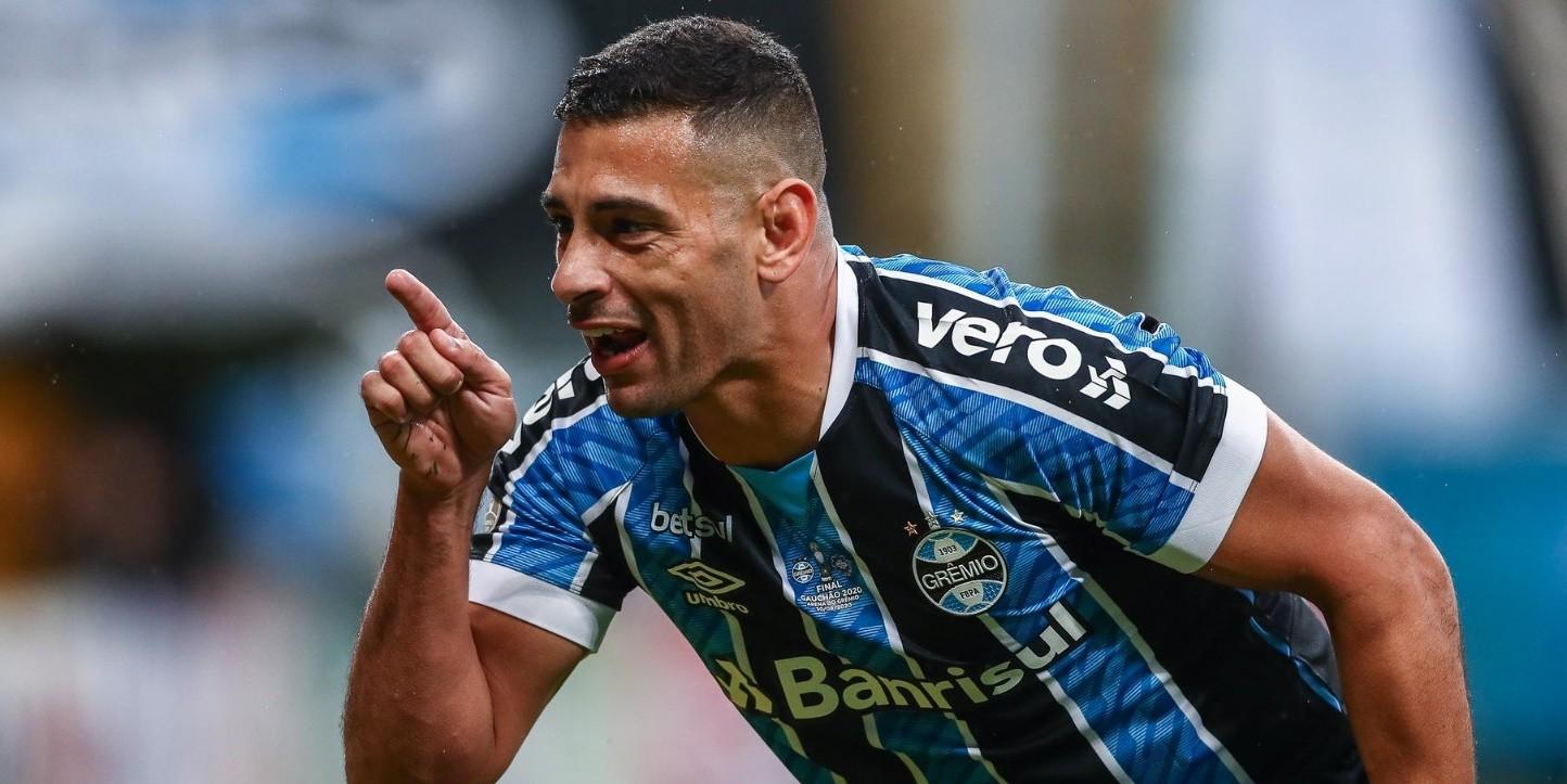 Diego Souza marca, Grêmio toma a virada mas conquista tri ...