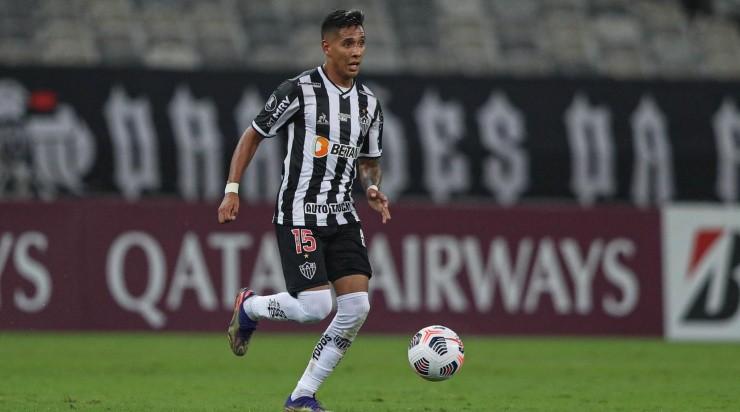 Zaracho: susto contra o América de Cali (Foto: Pedro Souza / Atlético / Divulgação)