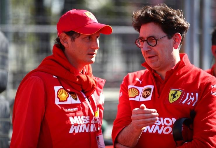 John Elkon e Matteo Pinoto della Ferrari.  (Foto: Getty Images)