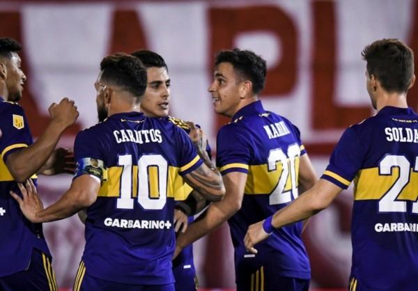 Comemoração de gol do Boca Juniors. Foto: Getty Images