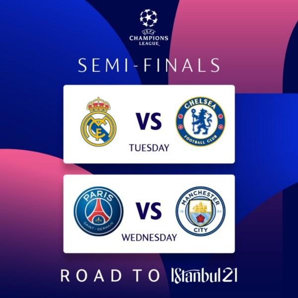 Semifinais da Champions League. (Foto: Reprodução Twitter)