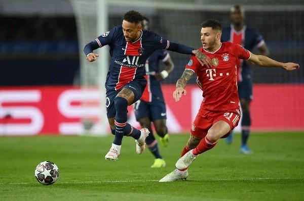 Neymar em campo contra o Bayer pela Champions. (Foto: Getty Images)
