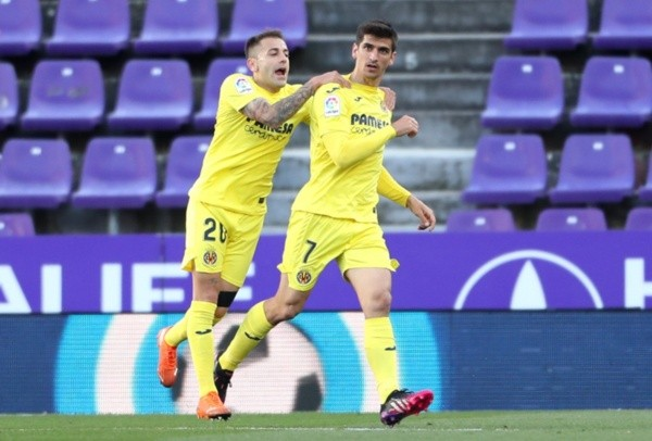 Los jugadores del Villarreal celebran el gol.  Foto: Getty Images