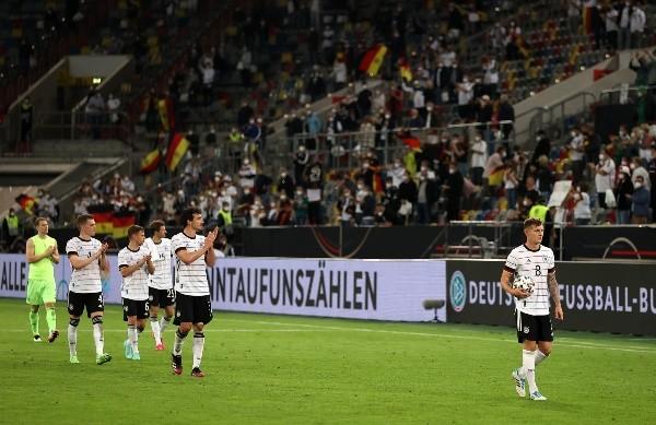 Deutschland beim Freundschaftsspiel gegen Lettland.  (Foto: Getty Images)